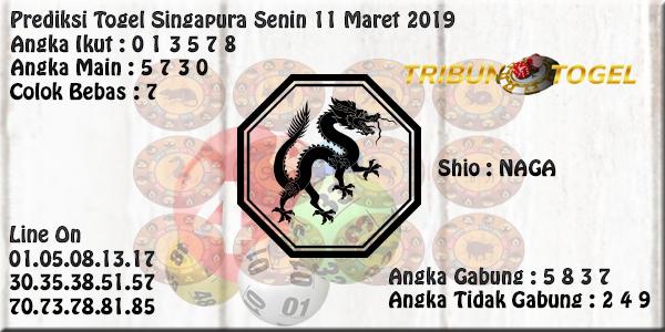 Prediksi Togel Singapura 11 Maret 2019