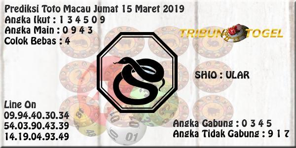 Prediksi Toto Macau 15 Maret 2019