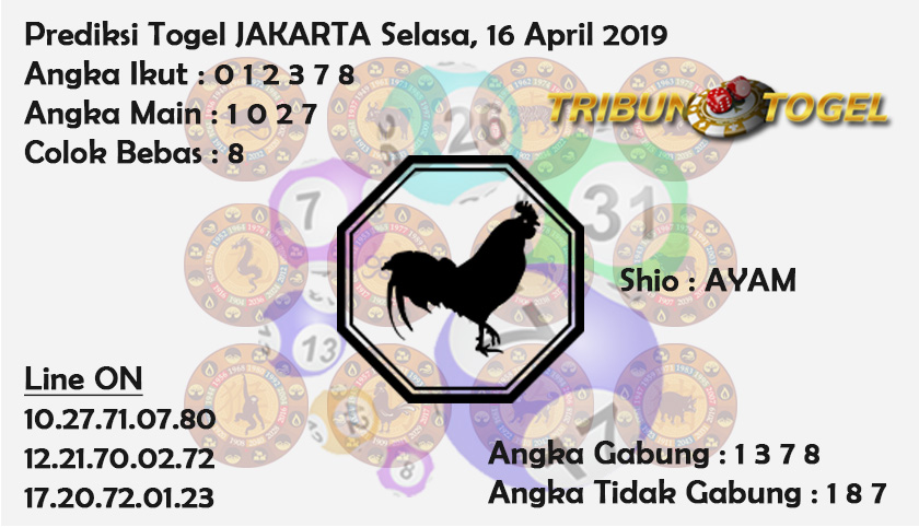 Prediksi Togel Jakarta 16 April 2019