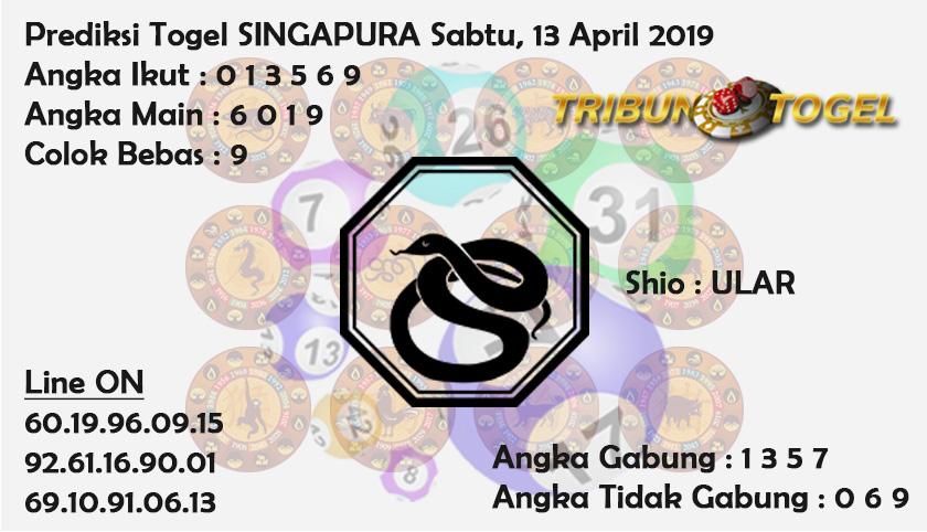 Prediksi Togel Singapura 13 April 2019