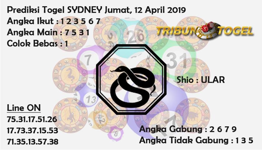 Prediksi Togel Sydney 12 April 2019