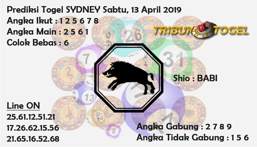 Prediksi Togel Sydney 13 April 2019