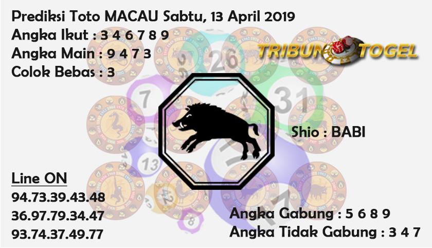 Prediksi Toto Macau 13 April 2019
